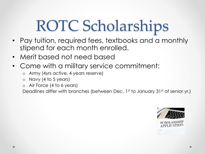 ROTC Scholarships