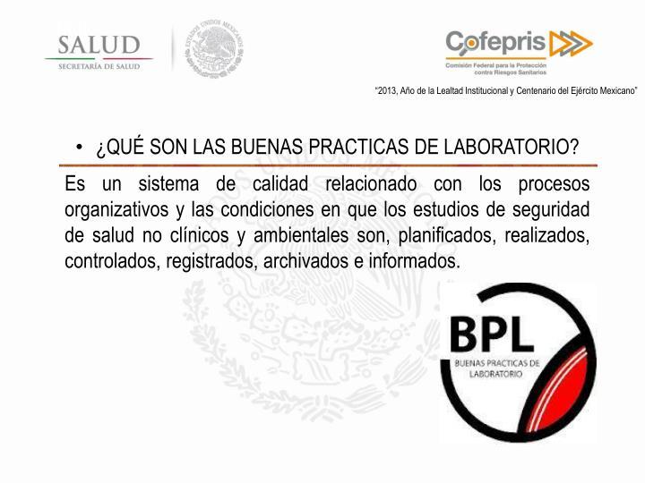 PPT - BUENAS PRACTICAS DE LABORATORIO SUBDIRECCION EJECUTIVA DE ...
