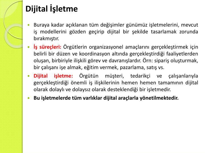 Dijital İşletme