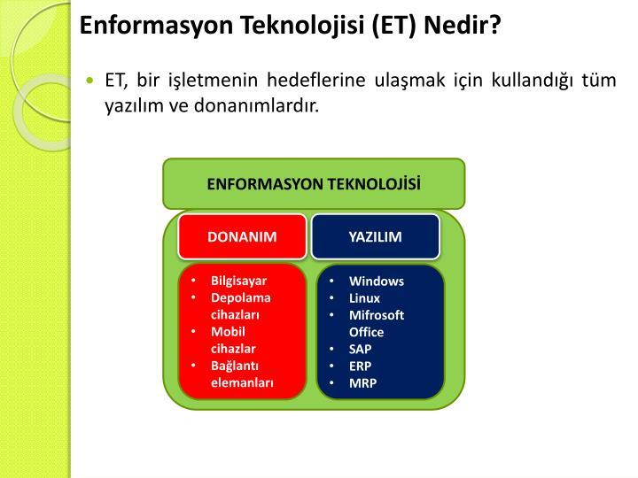 Enformasyon Teknolojisi (ET) Nedir?