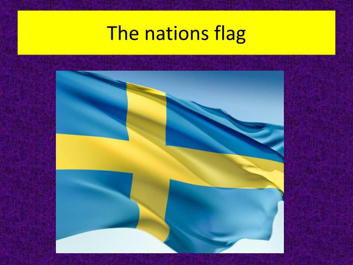 The nations flag