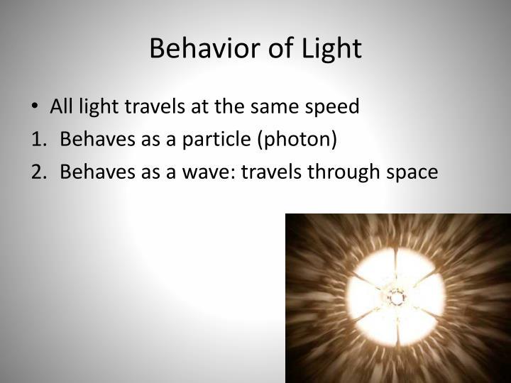 Behavior of light