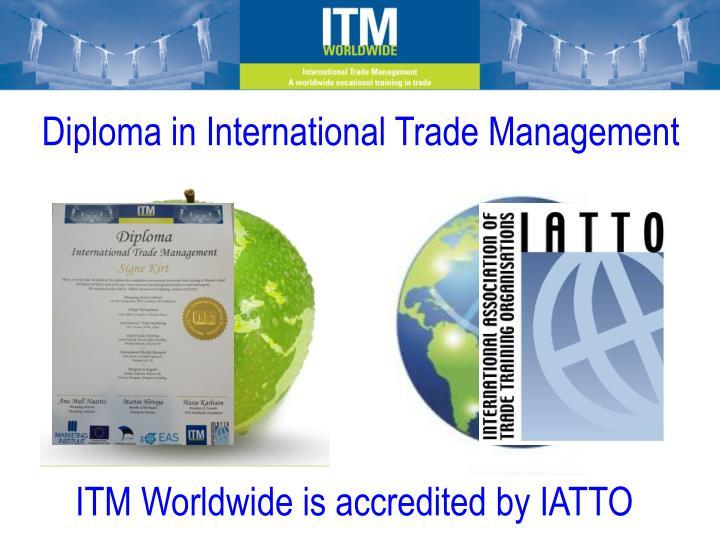Diploma in International Trade Management
