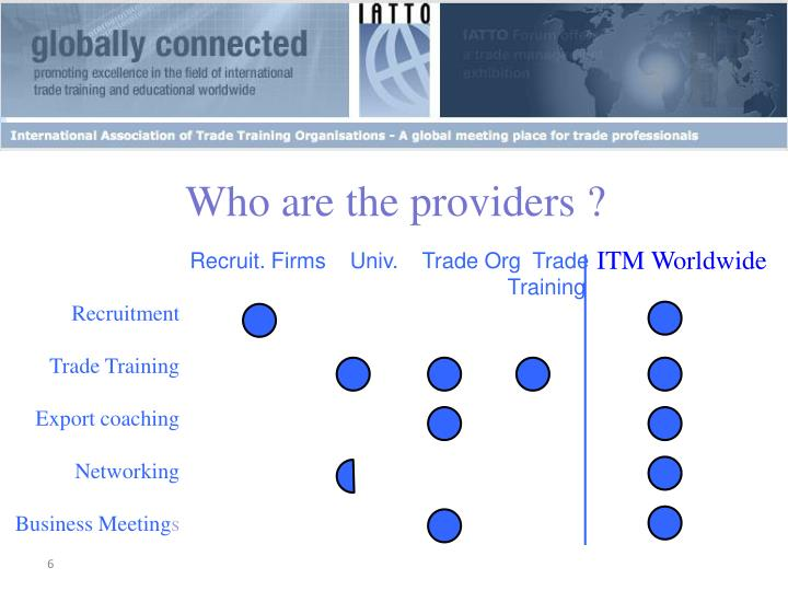 Who are the providers ?