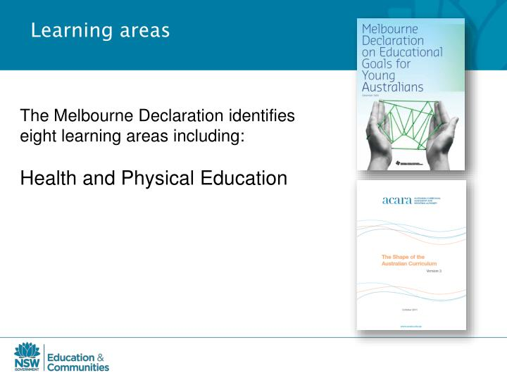 Learning areas