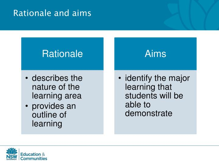 Rationale and aims
