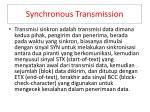 s ynchronous transmission
