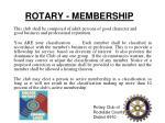 rotary membership