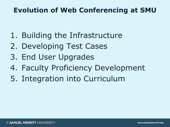 Evolution of Web Conferencing at SMU