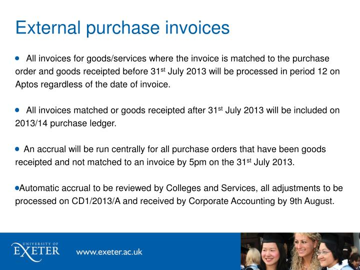 External purchase invoices