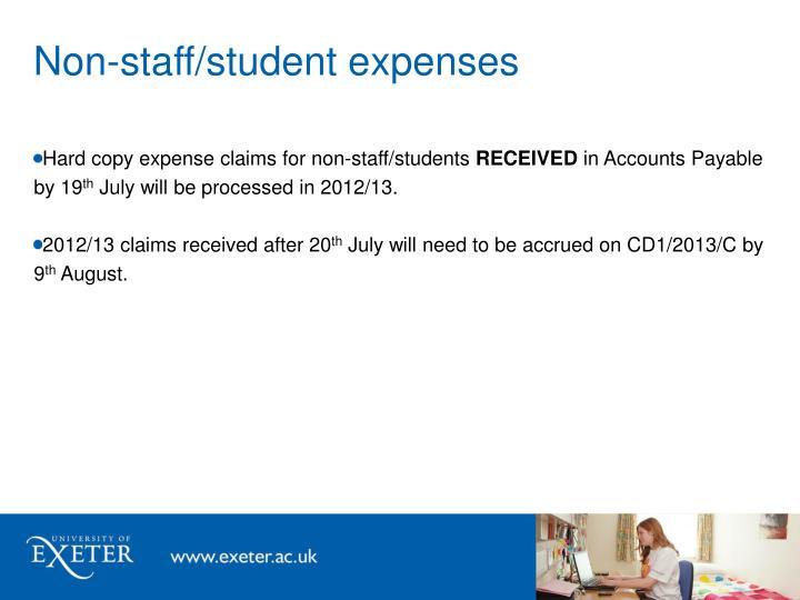 Non-staff/student expenses