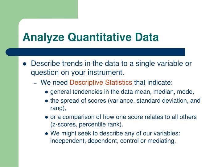 Analyze Quantitative Data