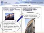 evolving priorities for eua