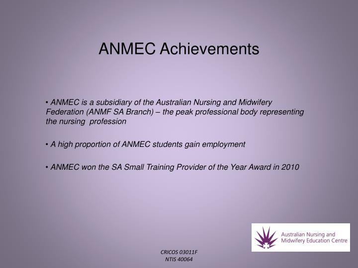 ANMEC Achievements