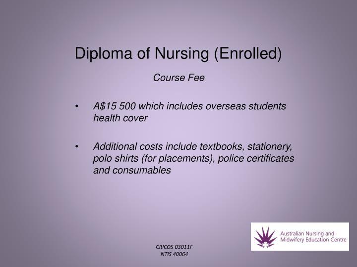 Diploma of Nursing (Enrolled)