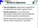 research objectives2