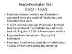 anglo powhatan war 1622 1632