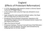 england effects of protestant reformation