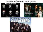 name a german rock group