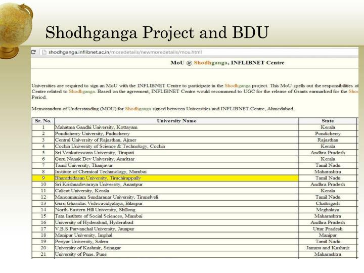 shodhganga project Shodhganga - download as pdf file (pdf), text file (txt) or read online   shiksha karmi project (skp) skp aims at universalisation and qualitative.