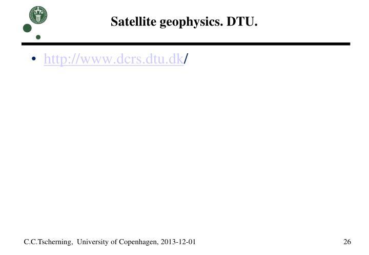 Satellite geophysics. DTU.