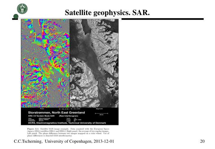 Satellite geophysics. SAR.