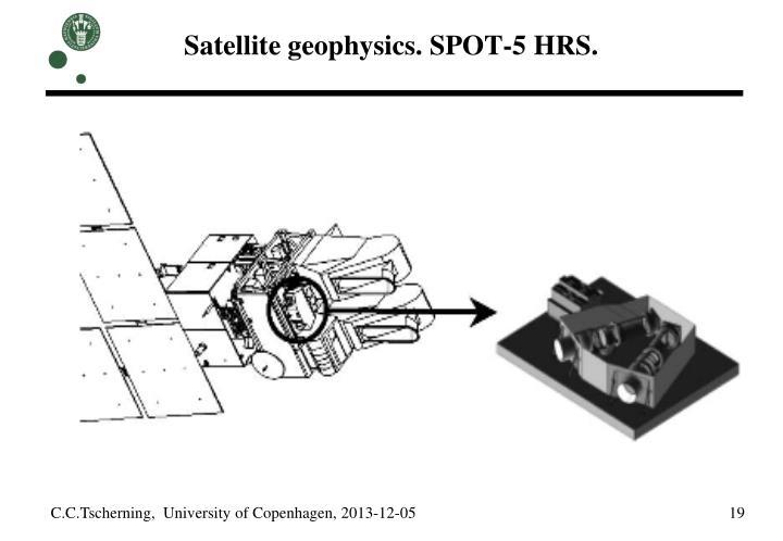 Satellite geophysics. SPOT-5 HRS.