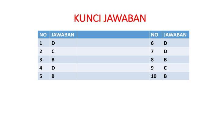 KUNCI JAWABAN