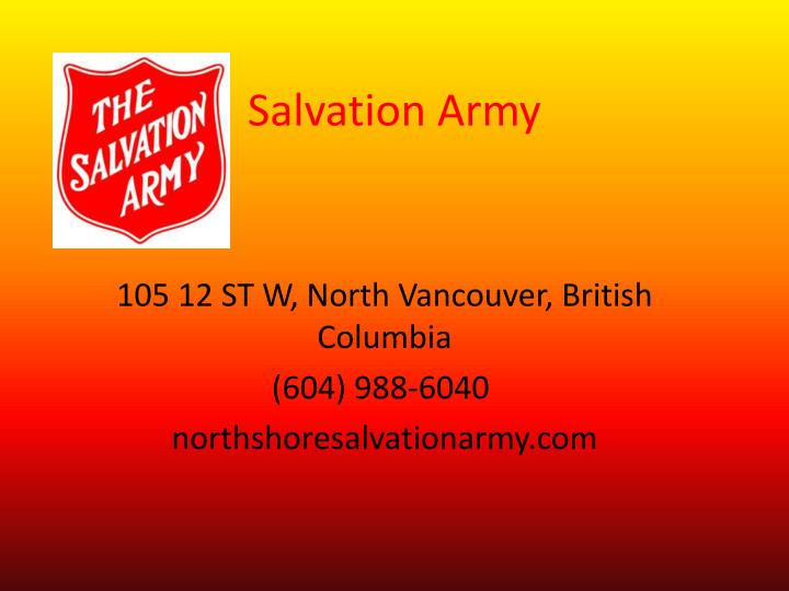 Ppt salvation army powerpoint presentation id6515263 salvation army toneelgroepblik Images
