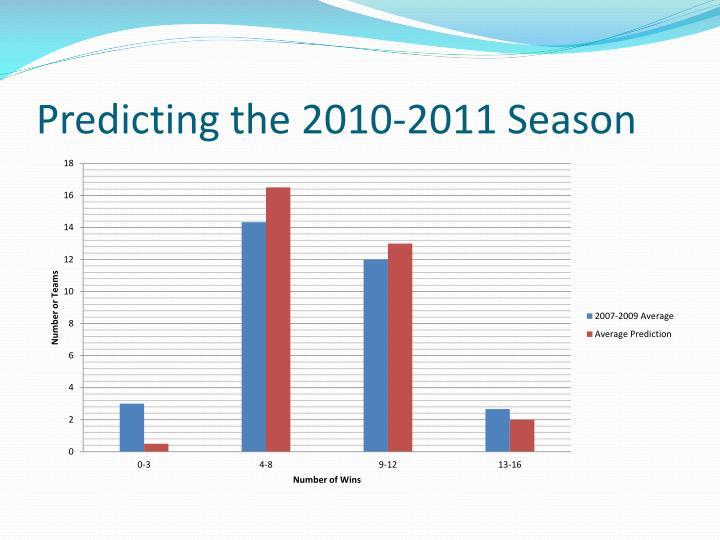 Predicting the 2010-2011 Season