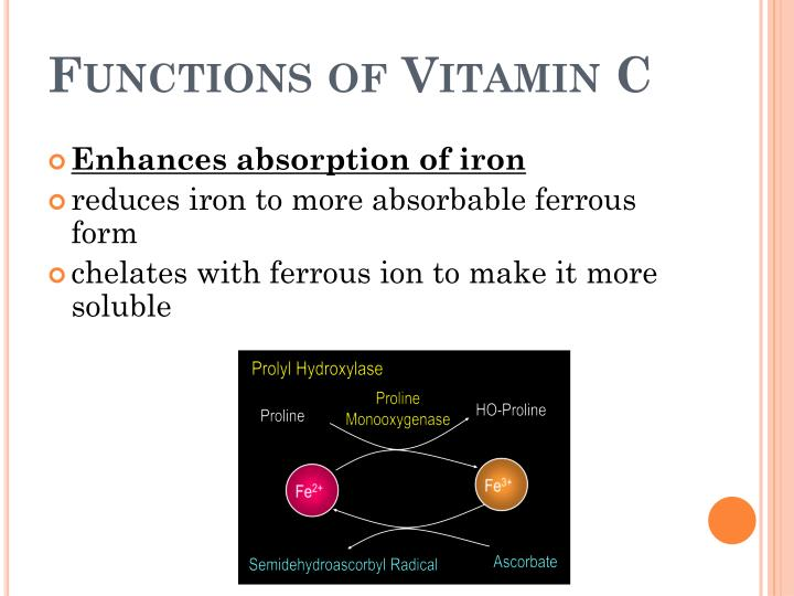 Functions of vitamin c