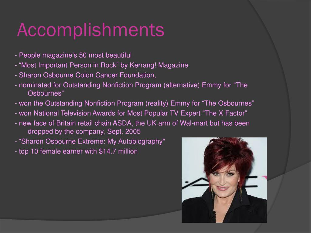 Ppt Sharon Osbourne Powerpoint Presentation Free Download Id 6515503