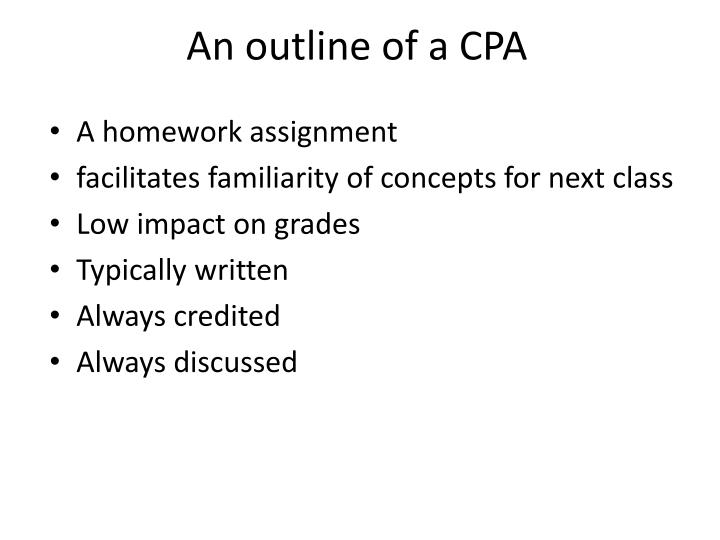 An outline of a cpa