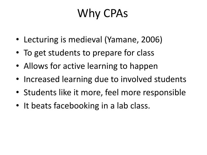Why CPAs