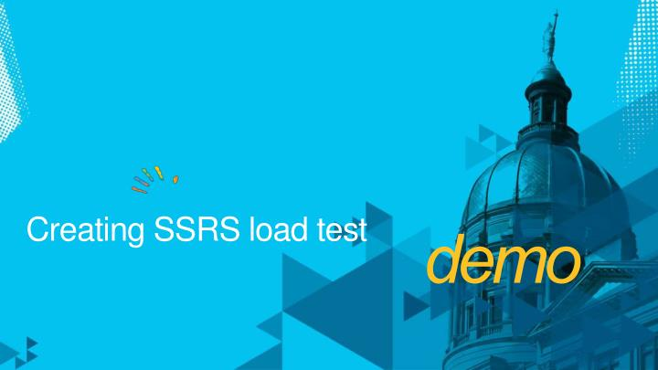 Creating SSRS load test