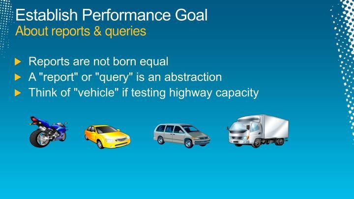 Establish Performance Goal