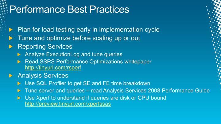 Performance Best Practices