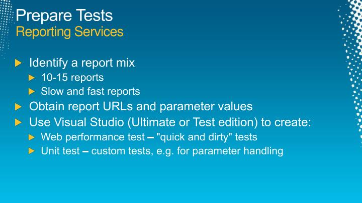 Prepare Tests
