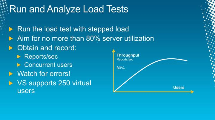 Run and Analyze Load Tests