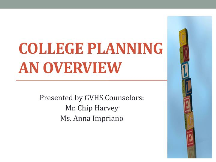 college planning an overview n.