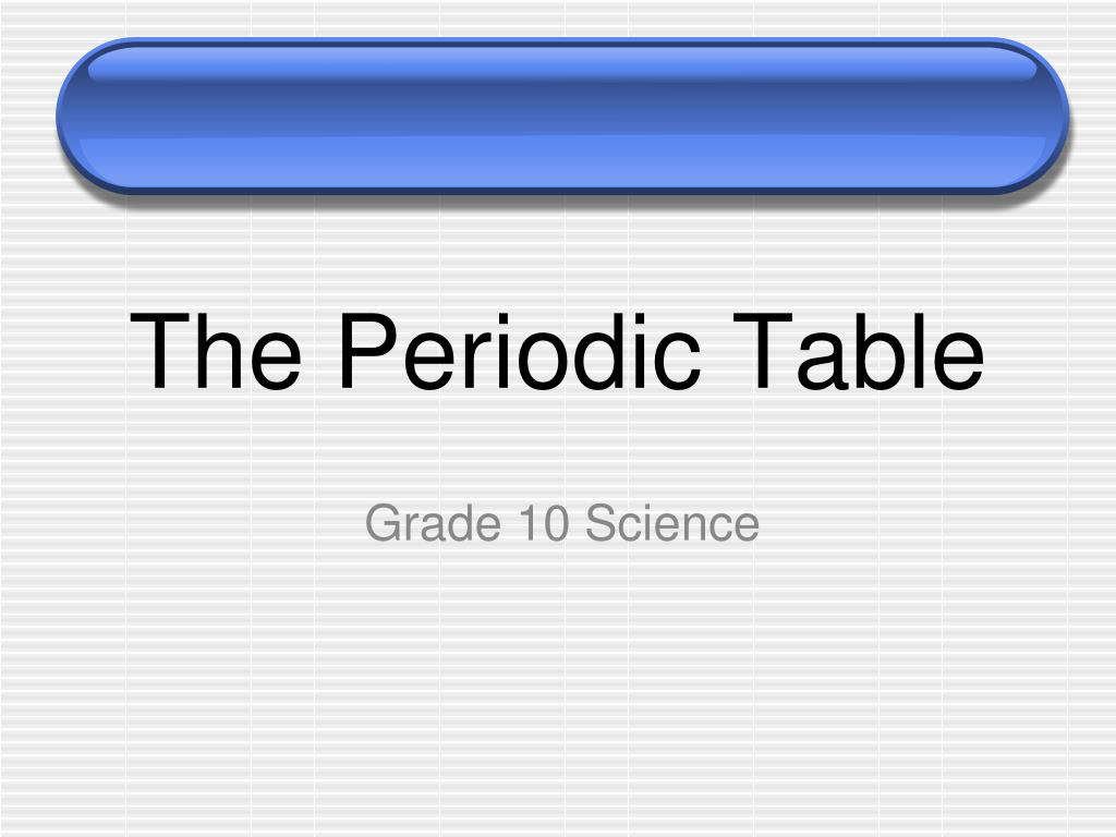 Ppt The Periodic Table Powerpoint Presentation Id6515853