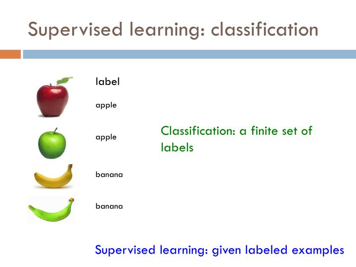 Supervised learning: classification