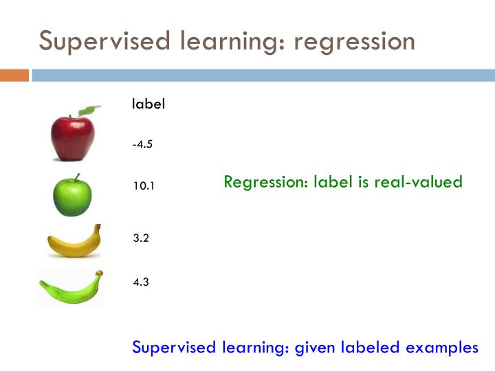 Supervised learning: regression