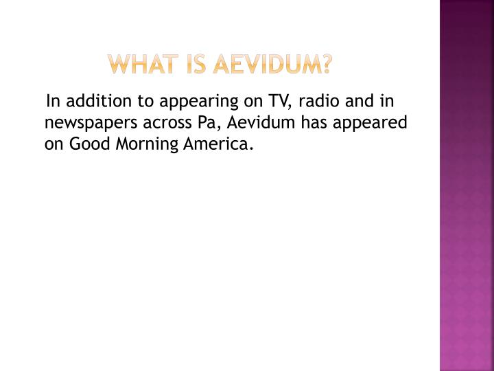 What is aevidum1