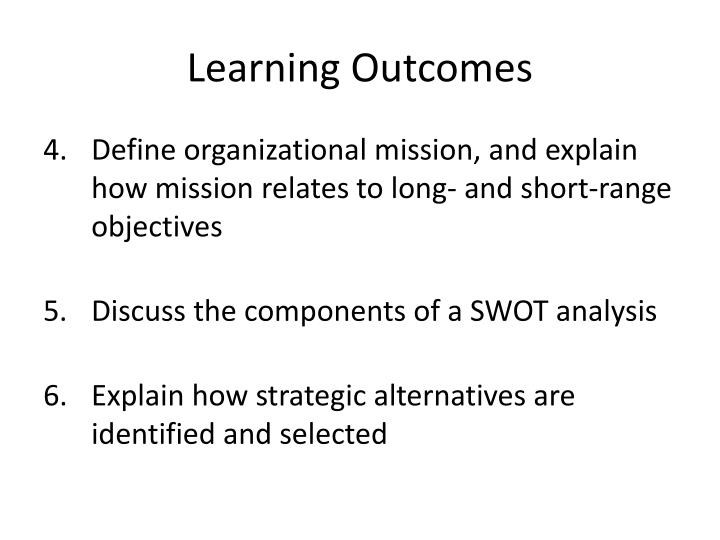 Learning outcomes1