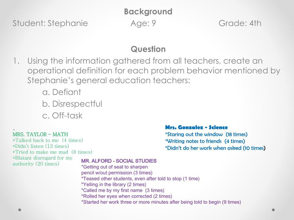 PPT - Target Behavior PowerPoint Presentation - ID:6516609