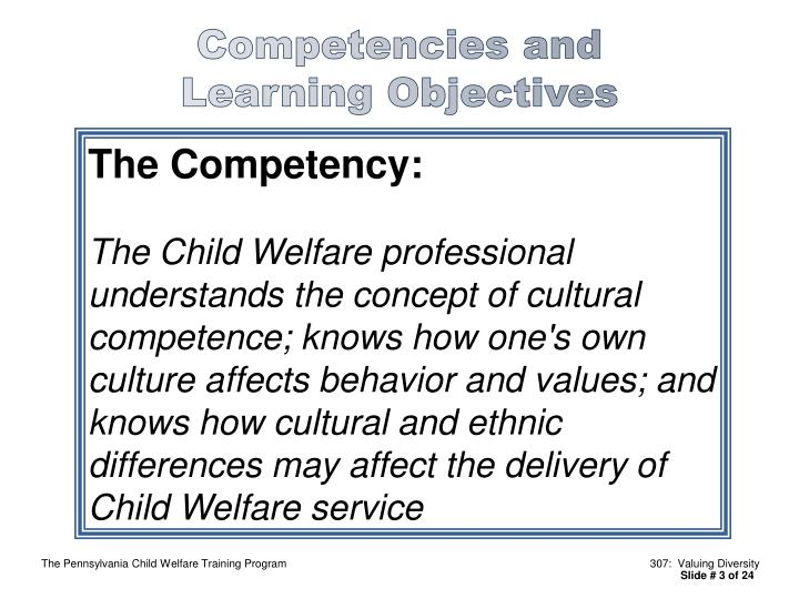 Competencies and