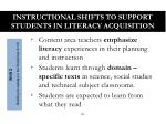 instructional shifts to support students in literacy acquisition1