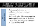 instructional shifts to support students in literacy acquisition4