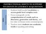instructional shifts to support students in literacy acquisition5